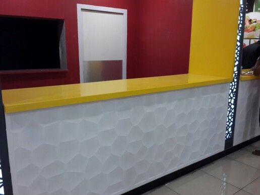 Corian application for Food Courts.. 3D CNC router work ...