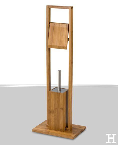 Badezimmer Accessoires Holz | Mit Dieser Bambus Toiletten Kombination Kann Harmonie Und