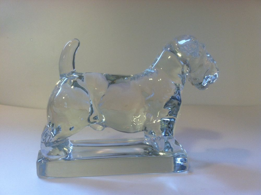 Vintage Heisey Clear Glass Scottie Dog Figurine