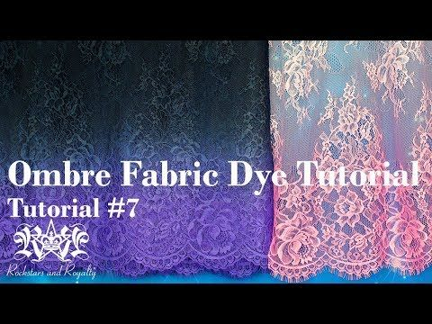 (23) DIY Ombre Fabric Dye Tutorial. 1 Colour & 2 Colour Fades. Rockstars and Royalty Tutorial #7 - YouTube #dyeingtutorials