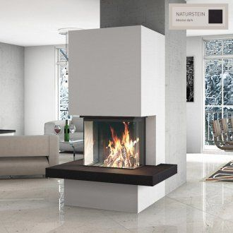 spartherm arte 3rl 60h kaminbausatz sn10 sol naturstein fireplace in the living room. Black Bedroom Furniture Sets. Home Design Ideas