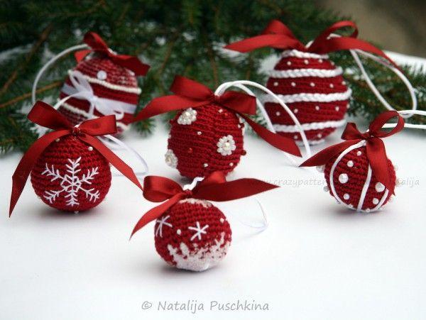 Weihnachtskugeln selber häkeln - DIY-Deko ☆ | weihnachten ...