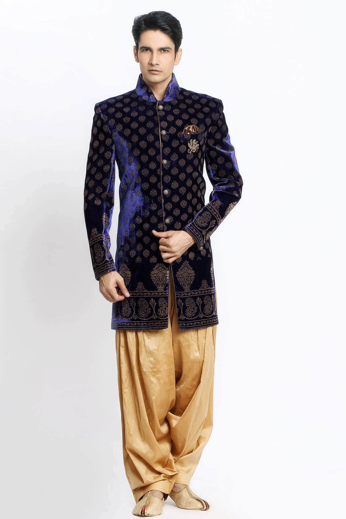 VELVET WITH EMBOSS INDO-WESTERN Jaihind Retail | Men Online ...