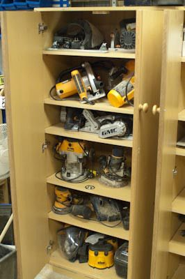 shed power tool storage - Google Search