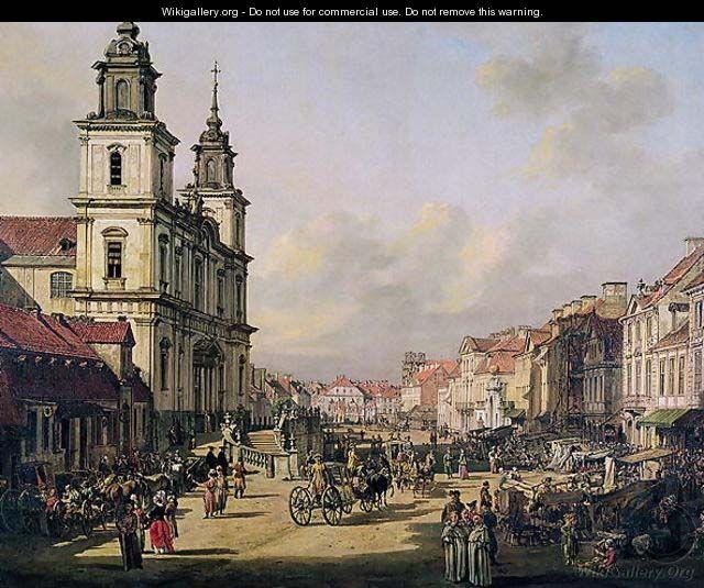View of Krakowskie Przedmiescie from Ulica Nowy Swiat, Warsaw, 1778 by Bernardo Bellotto (Canaletto)