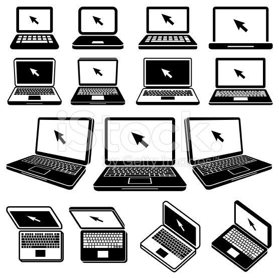 Laptop Icon Black And White