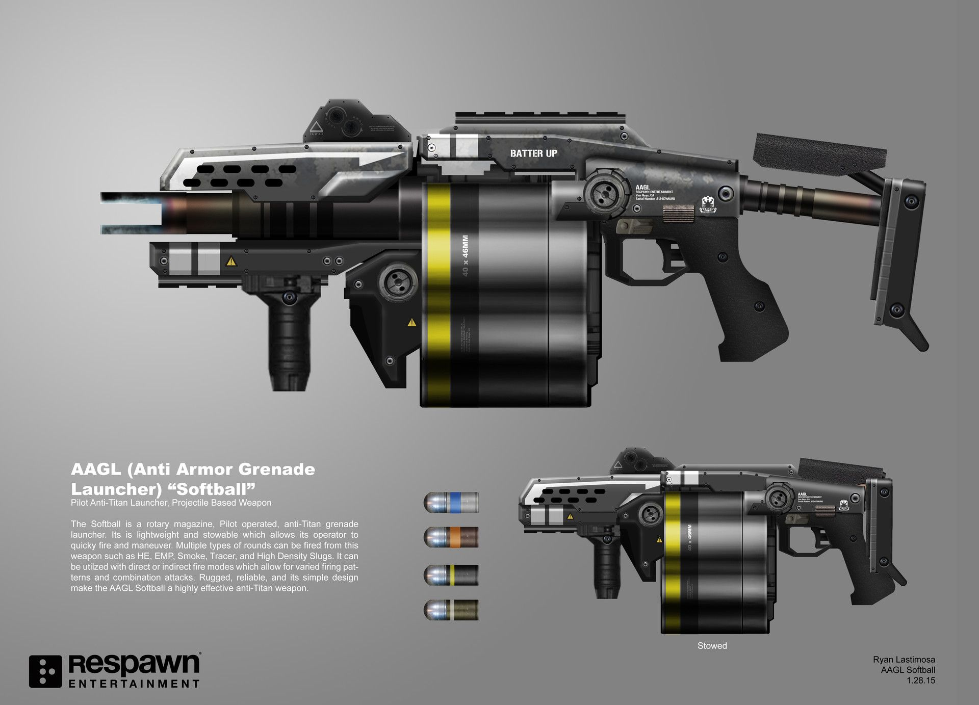 Various concepts for Titanfall 2's digital armory. Some of ...