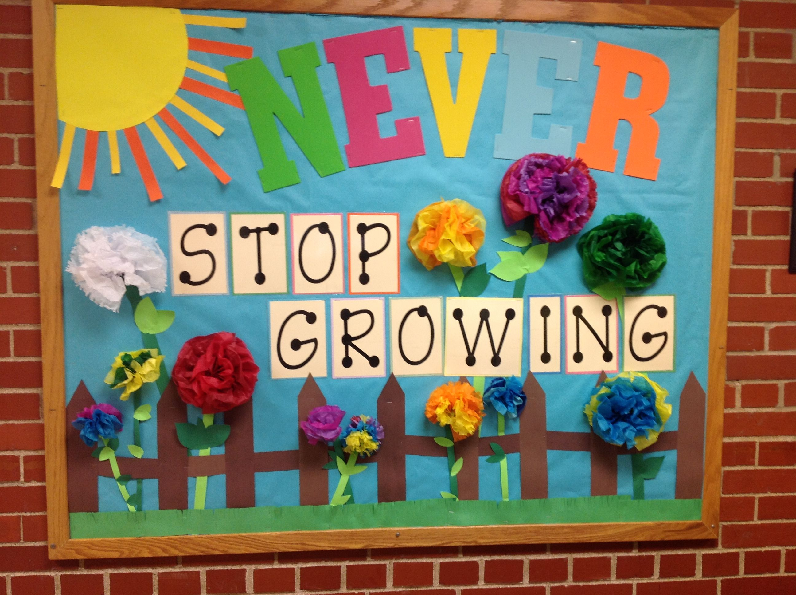 Spring bulletin board school bulletin boards pinterest for 3d cuisine boe
