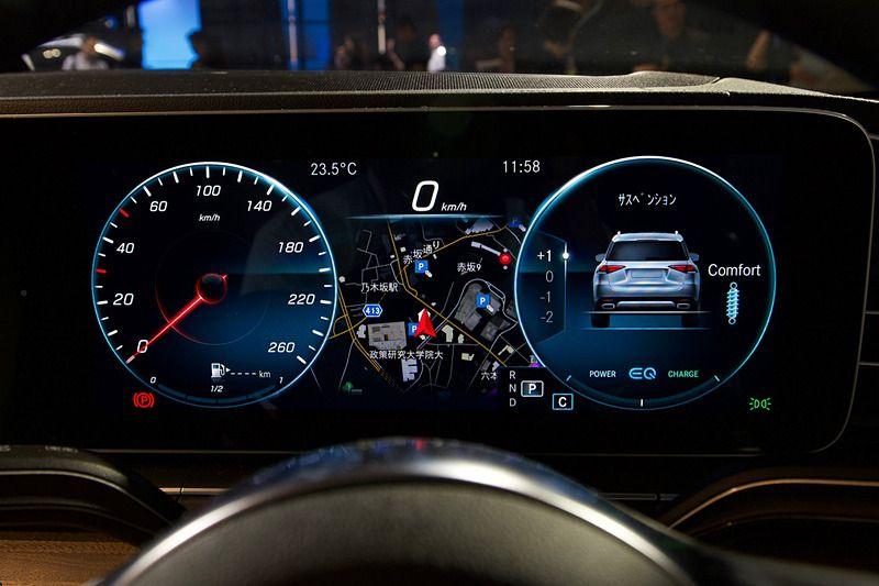 メルセデス ベンツ 48v電気システム のマイルドハイブリッド車もラインアップする新型suv Gle 発表会 メルセデスベンツ ハイブリッド車 メーター