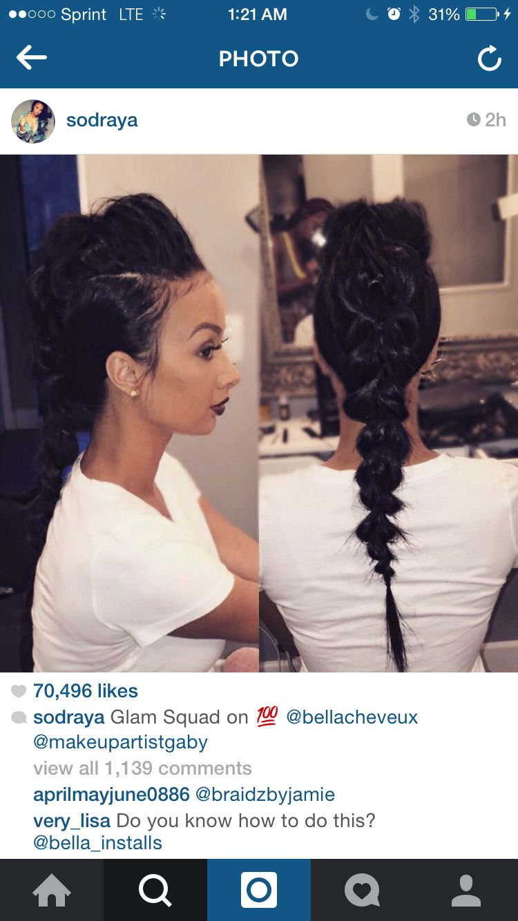 Draya hair on fleek hair pinterest ponytail updo ponytail and