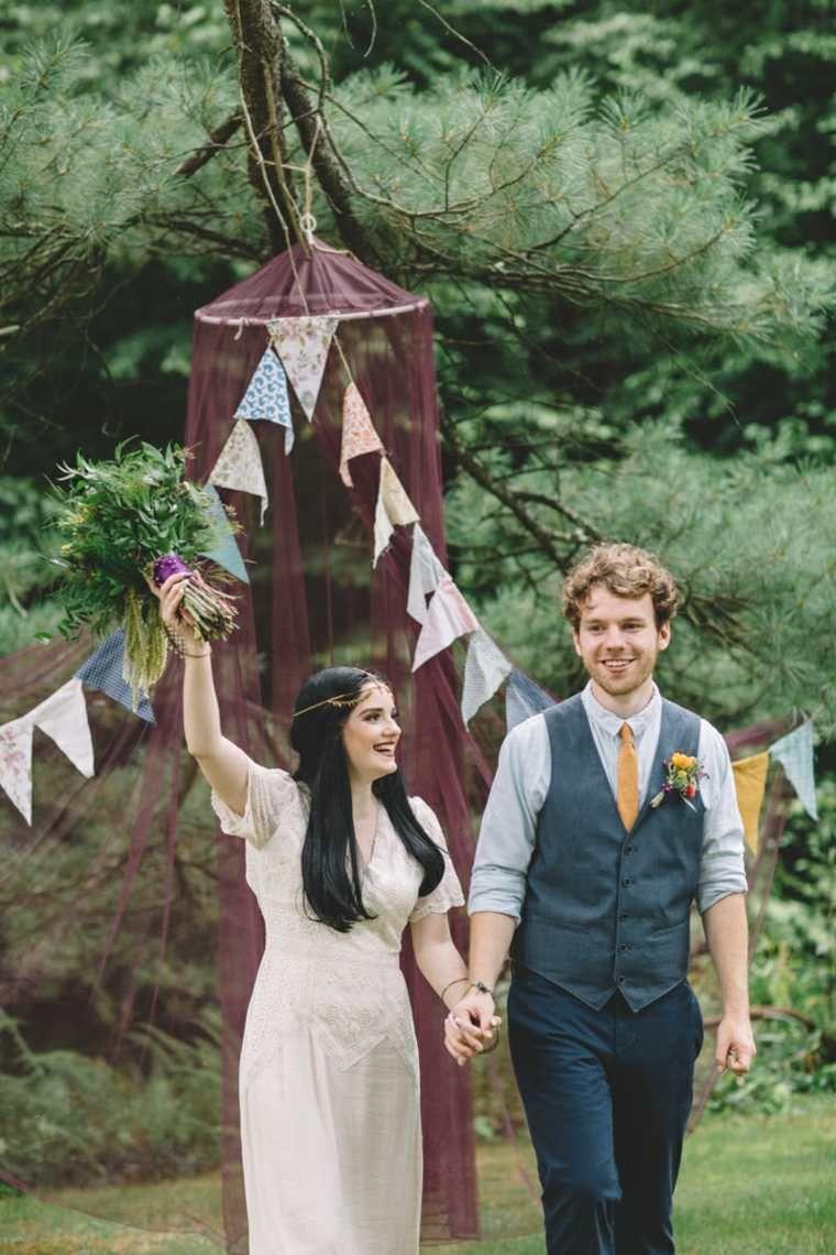Boheemse chique bruiloft voor een lente- of zomerfeest