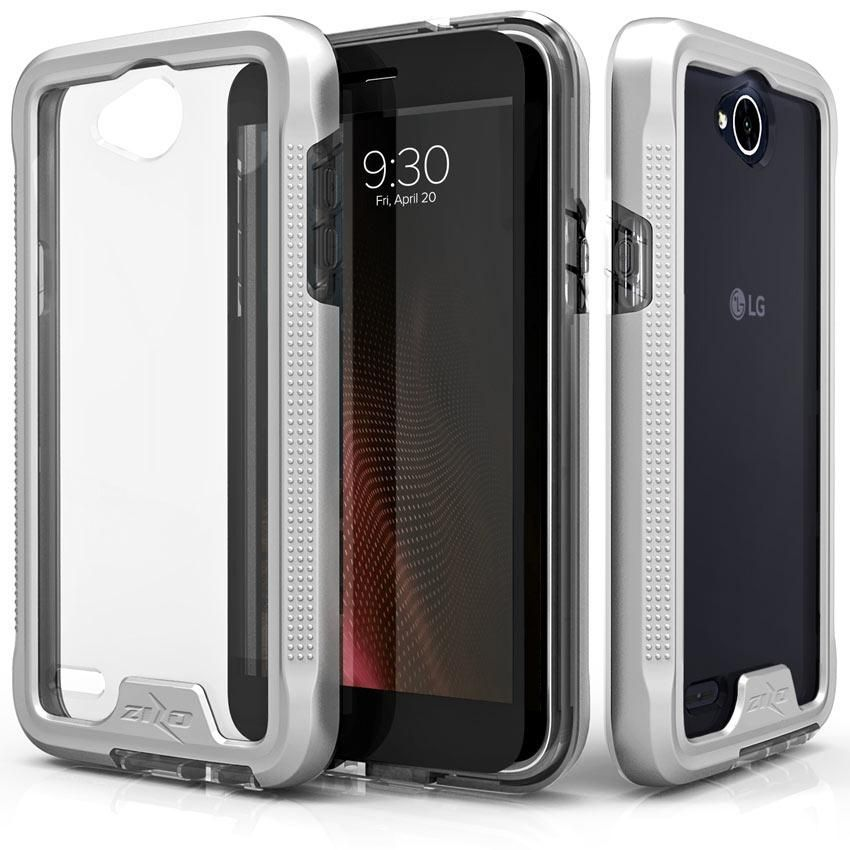 Zizo ION Full-Wrap LG X Power 2 / X charge Case - Silver/Clear