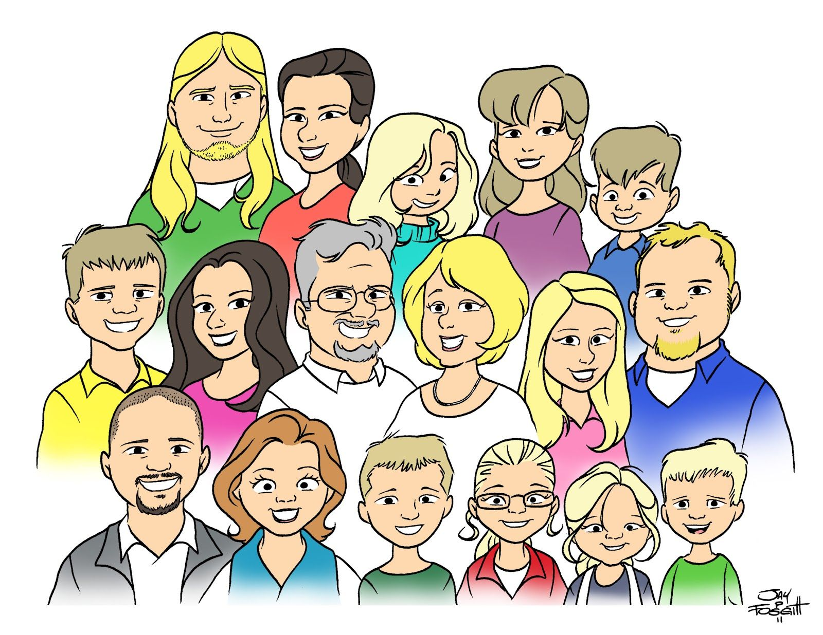 Cartoon Family Portrait Google Search With Images Portrait