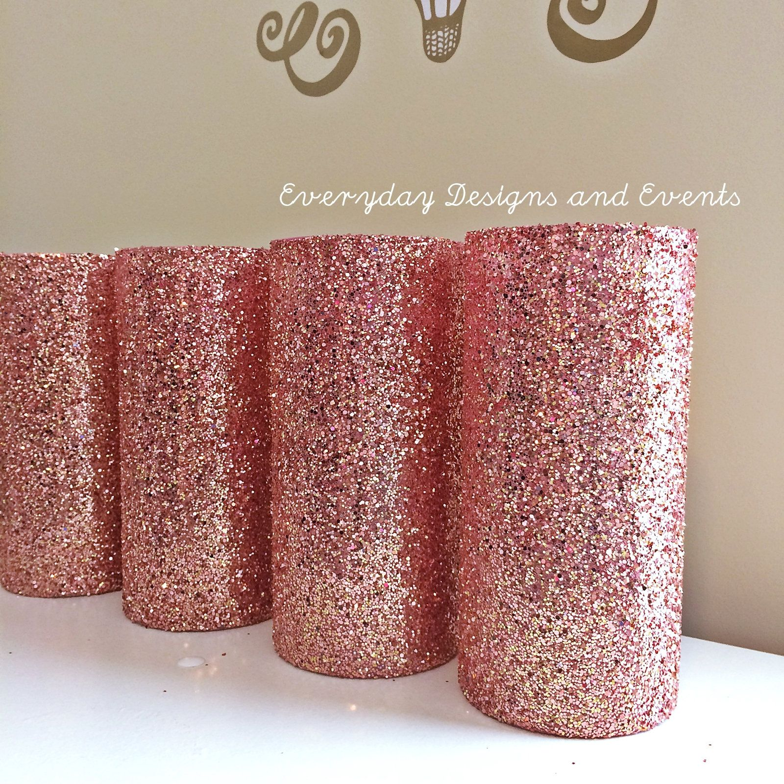 Wedding decorations gold and pink   Rose Gold Glass Vases rose gold decor gold centerpiece wedding
