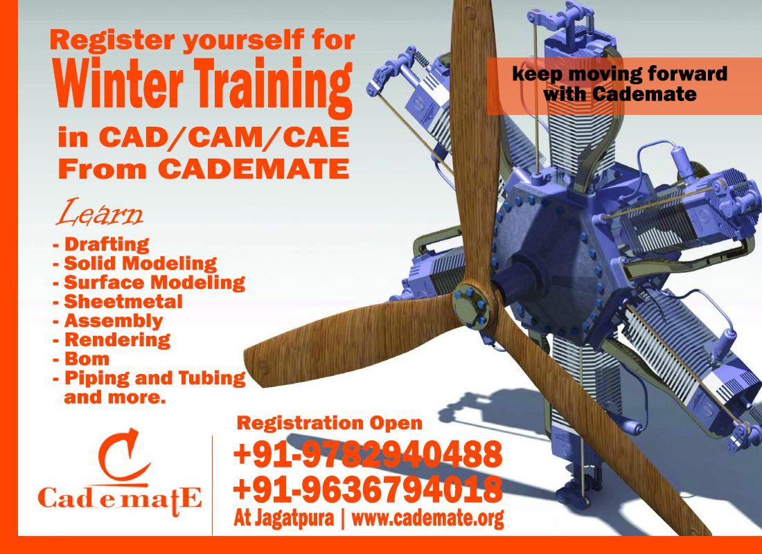 Winter Training in CAD|CAM|CAE in jaipur | Winter training