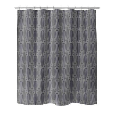 Brayden Studio Prout Single Shower Curtain Colour Dark Gray In 2020 Curtains Colorful Curtains Striped Shower Curtains