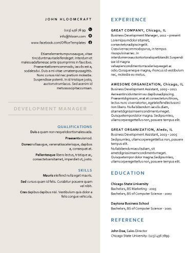 Creative Formal  Free Resume Template By HloomCom  Formatos Cv