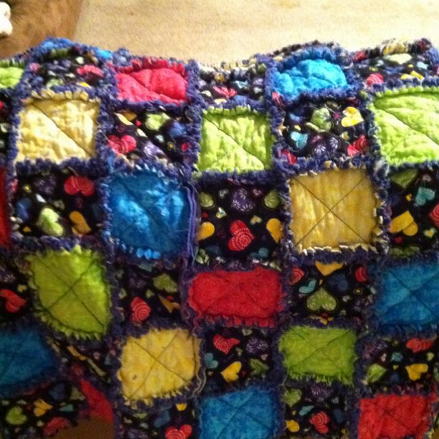 My very first rag quilt