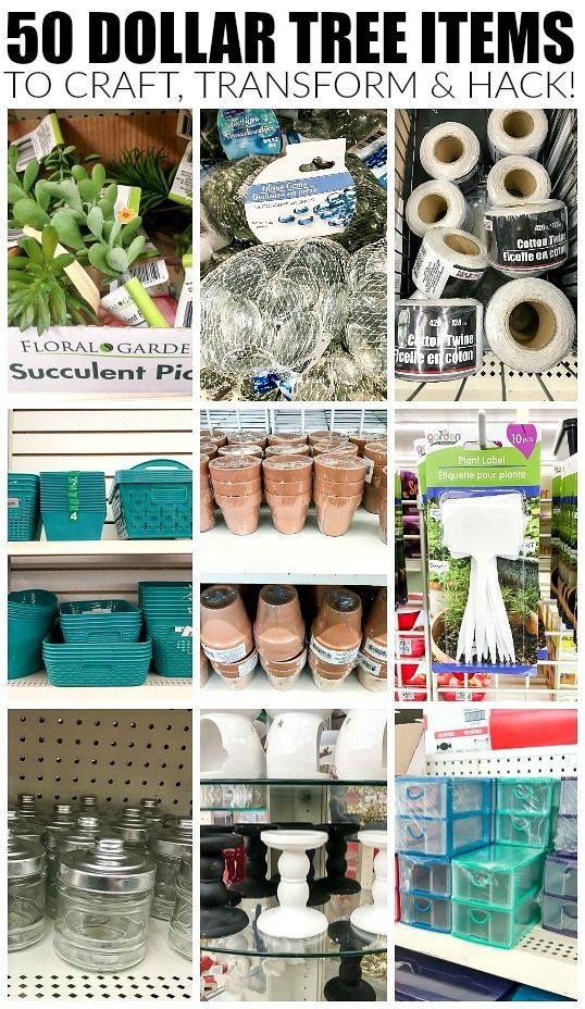 What to Buy at Dollar Tree: The 50 Best Items #diydecor