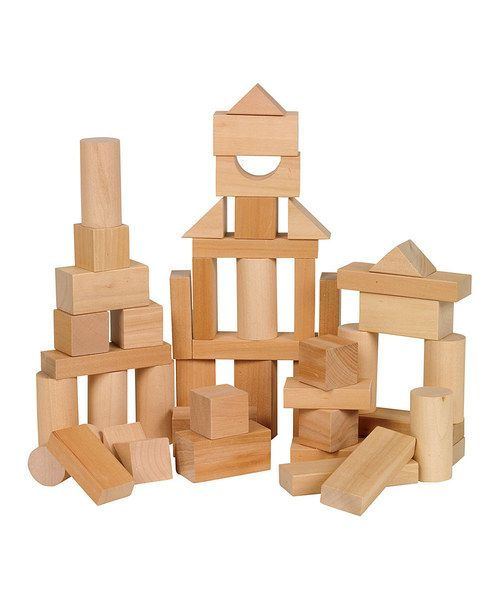 Let imaginations soar with this quality crafted bag of blocks. Featuring a variety of shapes and sizes, this collection is an ideal way to build any structure little architects can imagine!Includes 50 wooden blocksWoodRecommended for ages 2 years and upImported