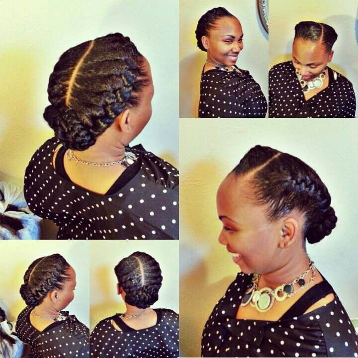 2 Goddess Braids To The Side Google Search Hair Pinterest