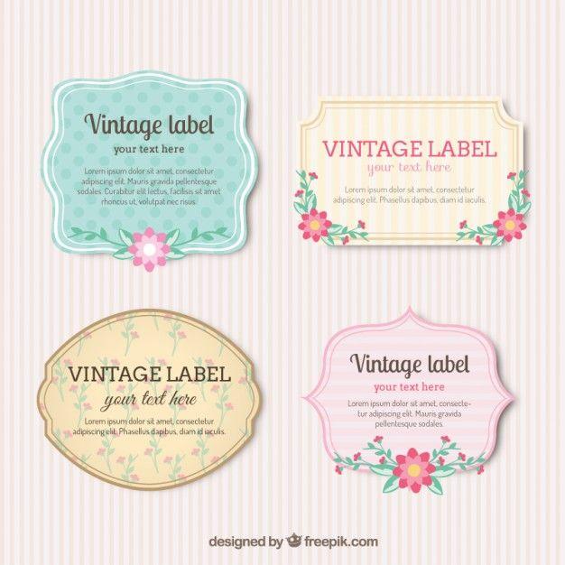 Etiquetas do vintage com flores vintage labels vector free etiquetas do vintage com flores stopboris Images