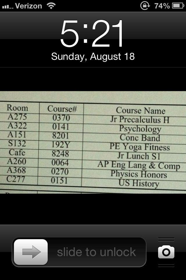 make school schedule