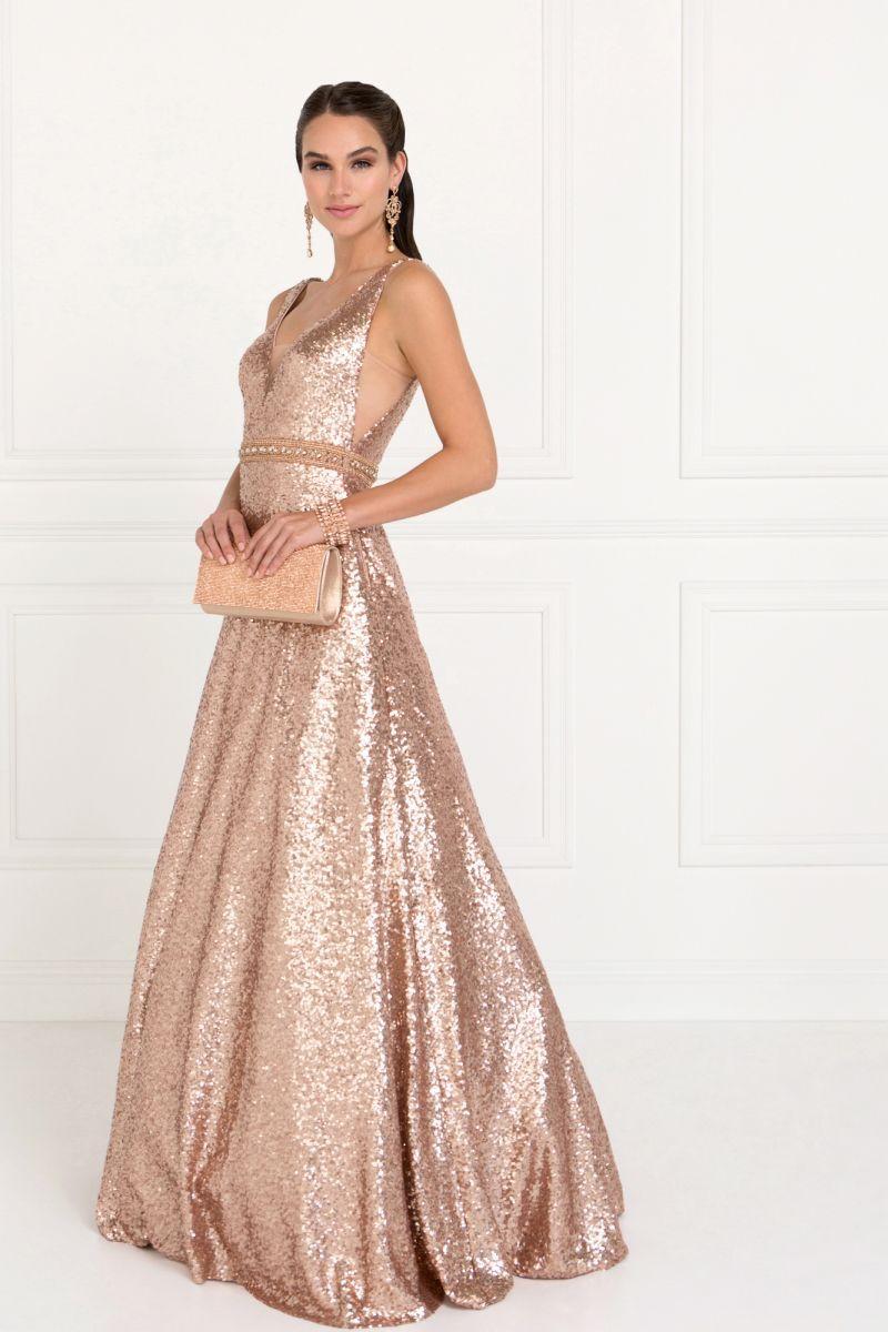 Zlaté šaty na stužkovú  242625ec0c3