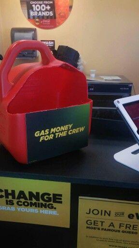 Moe S Southwest Grill Gas Money Moe Southwest Grill Tip Jars