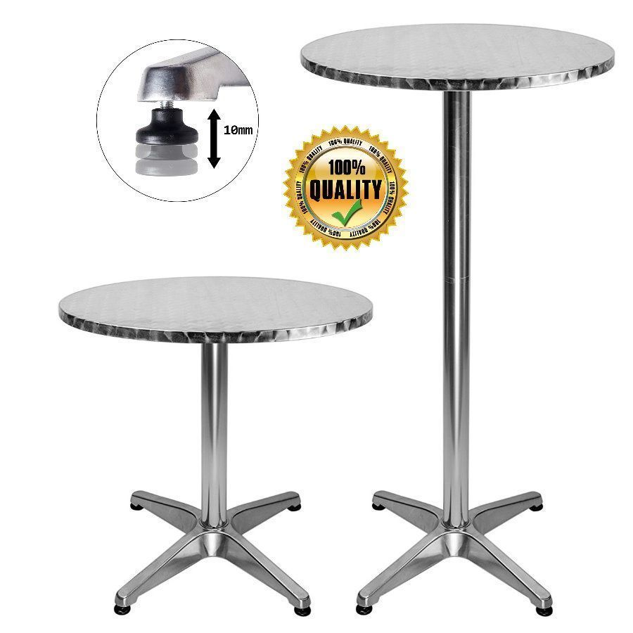 Table Bistrot Aluminium Bar Table Bistro Cocktail Coffee High Folding Round Top Aluminium