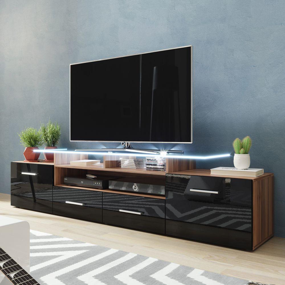Evora Walnut Black Tv Stand Evora Meble Furniture Tv Stands In 2021 Tv Stand Modern Design Living Room Tv Living Room Tv Unit
