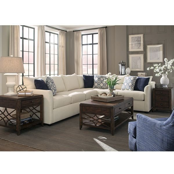 The Georgia 2 Piece Sectional By Trisha Yearwood Home Fits Comfortably Into Any Setting The