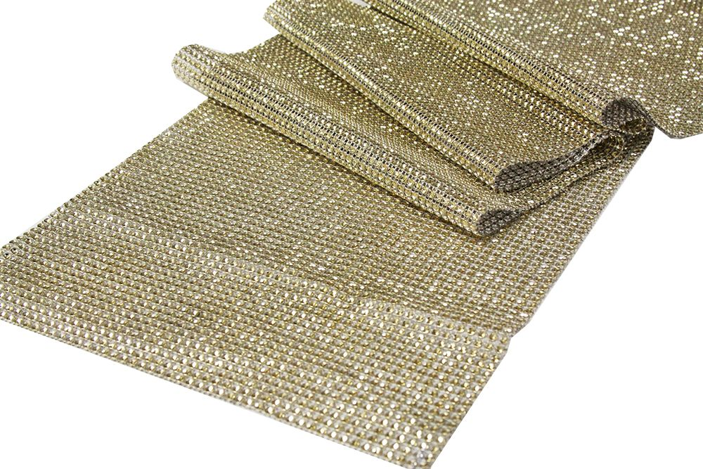 Beautiful Rhinestone Mesh Table Runner/ 15 Ft Roll   Gold...what About A