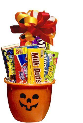 Trick or Treat Halloween Pumpkin Gift Basket - http://www.holidaygoodness.