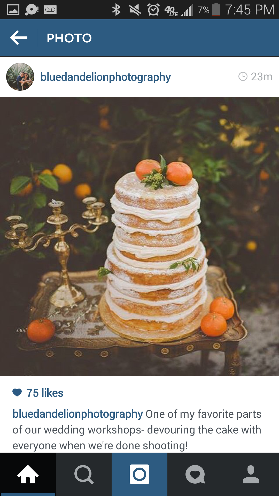 Love this cake Blue dandelion photography shot at a work shop!!