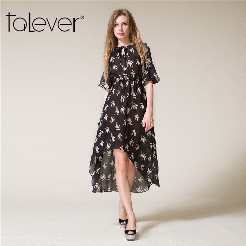 Trendy Floral Print Maxi Dress Women Butterfly Sleeve Dress Elegant Ladies  Short in Front Long Party 5adcee4168
