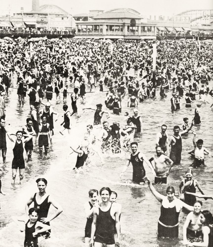 1920 s swimmers coney island art print by grays x small in 2020 coney island vintage new york nyc history pinterest