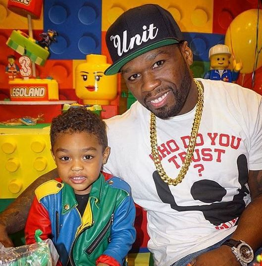 50 Cent Has Two Sons Marquise And Sire Celebrities Daddy Son