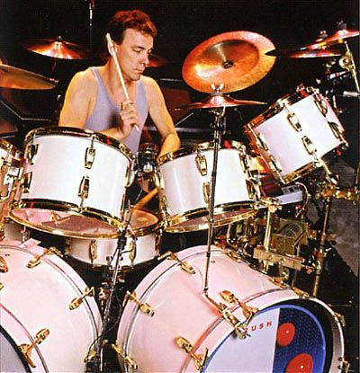 Neil Peart Hold Your Fire drums   drum board   Neil peart