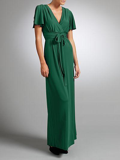 Buy Somerset by Alice Temperley Angel Sleeve Long Dress, Green ...