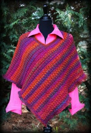 Free Patterns] 5 Easy Crochet Poncho Patterns For Beginners | Pinterest