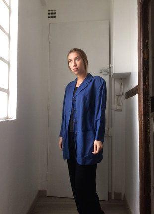 79c63a92fff6e Veste blazer bleue Kenzo Vintage