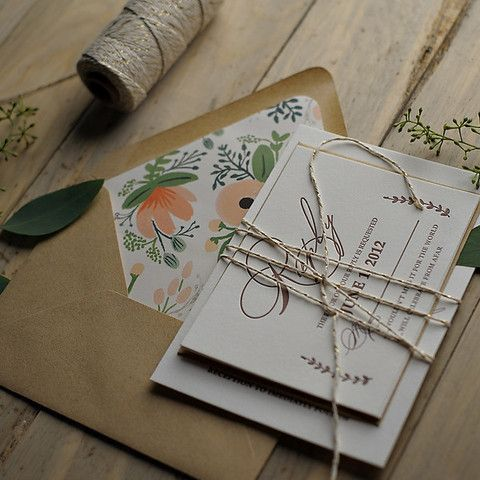 rose gold twine wedding invitation Google Search Sophie and