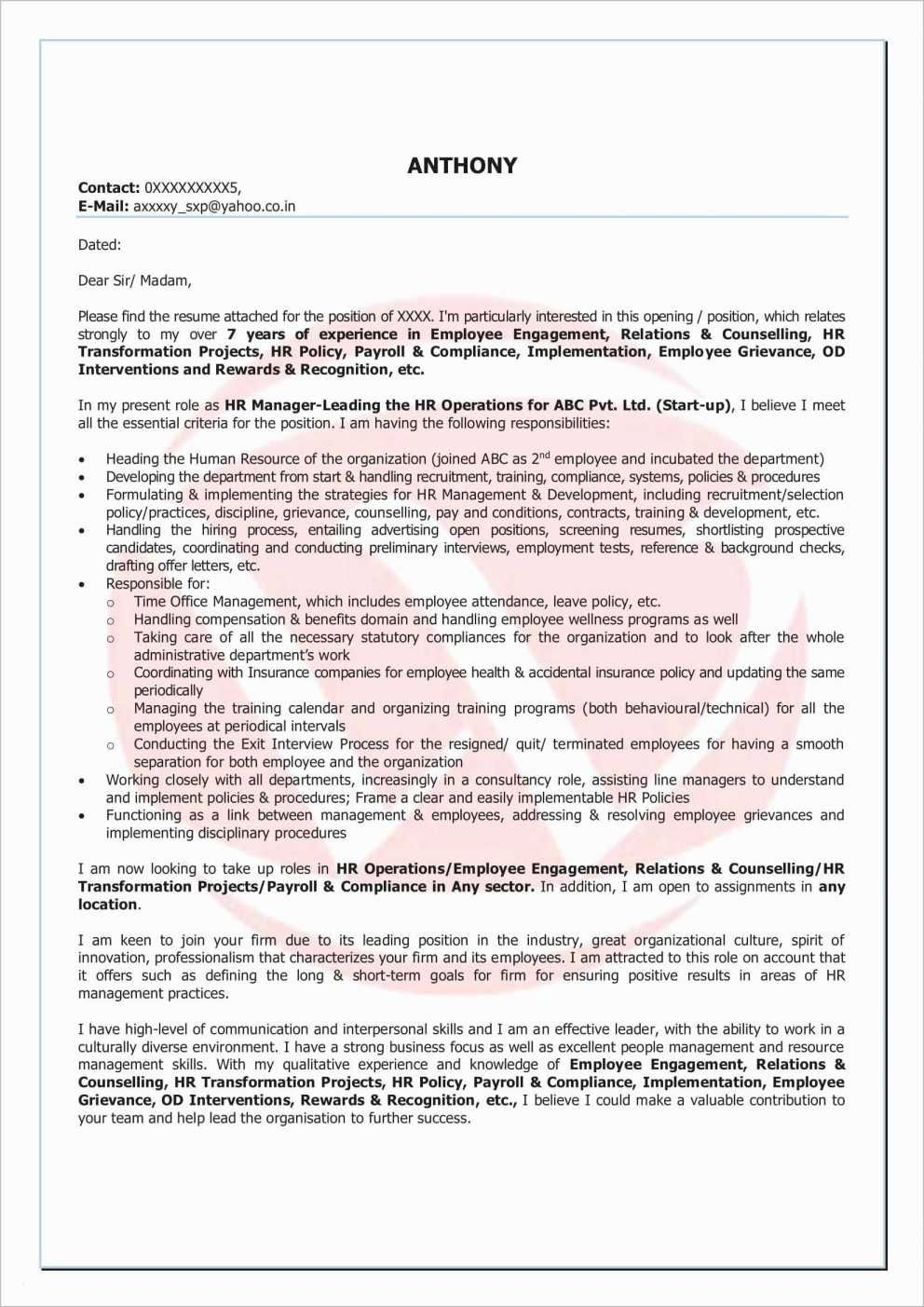 69 Luxury Collection Of Resume format for Construction Supervisor ...
