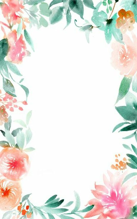 Floral Boarder Wallpaper Floral Border Design Floral Watercolor