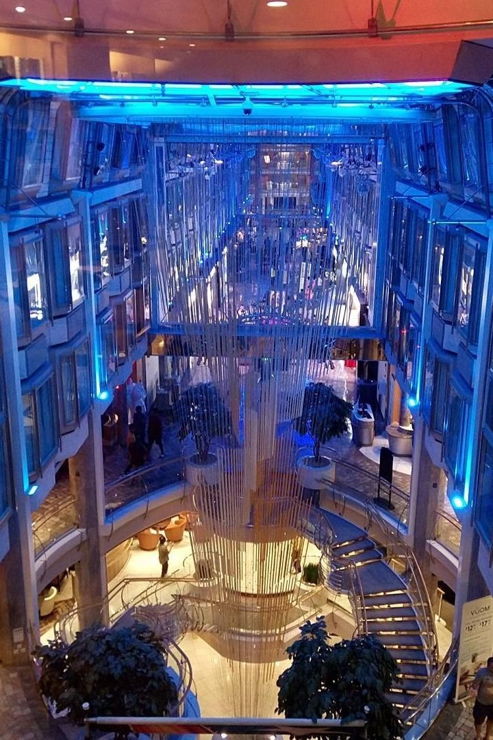 Voyager of the Seas Cruise | The four-story Royal Promenade