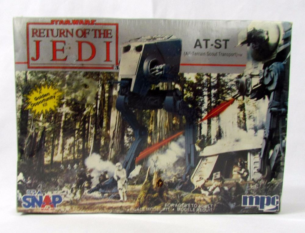 Vtg Scout Walker MPC Star Wars Return of the Jedi AT-ST Model Kit Factory Sealed #MPC