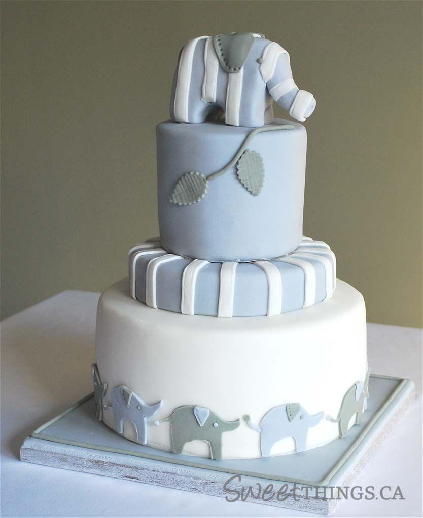 Baby Shower Theme Cake; SweetThings: Elephant-inspired Baby Shower Cake