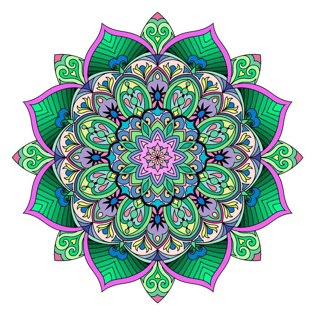 цветы от римма давлетбаева | Раскраски, Рисунки, Мандала
