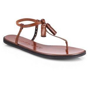 Burberry Amberley sandalias de tiras de cuero